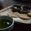 日升庵_御煎餅とお茶